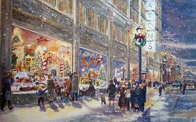 The History of Christmas Windows