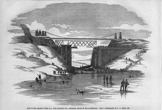 Train Wreck at the Desjardins Canal Bridge – March 12, 1857